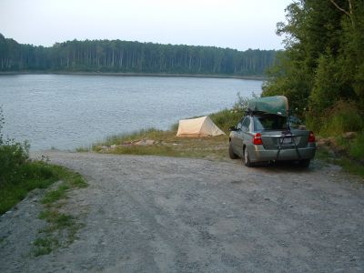 Campsite at Waswanipi River