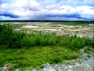 Dry Caniapiscau Riverbed