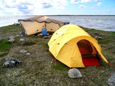 Campsite on the Duck Island
