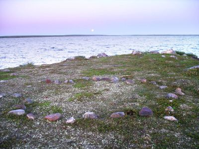 Moon over Lac Nedlouc