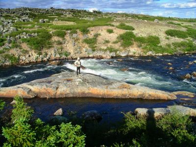 Waterfall in Caribou Rapids
