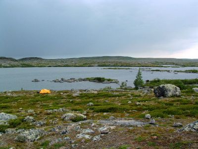 Campsite on Charpentier River