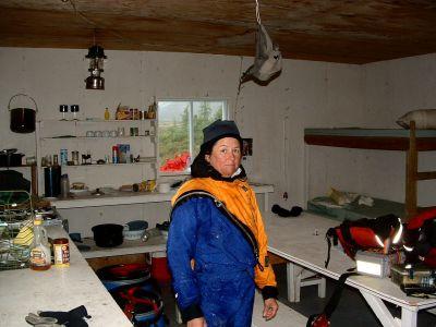 Wet Lynette in the cabin