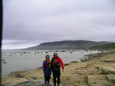 Lynette, Laco and the caribou