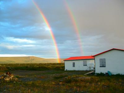 Rainbow over Finger Lake Outfitters