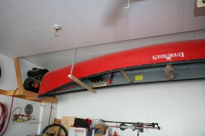 There Is Still A Spot Available To Hang One More Canoe From The Ceiling On Other Side Of My Garage Leave Empty Think I Ll Go Ping